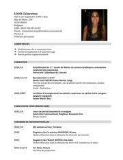 curriculum vitae septembre 2014 louis clementine