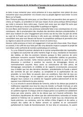 declaration liminaire du livre blanc d ali benflis 1