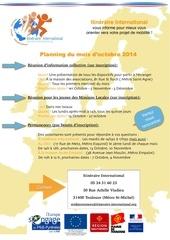 itine raire international planning d octobre 1