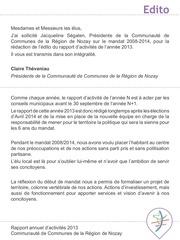rapport d activites 2013 ccrn