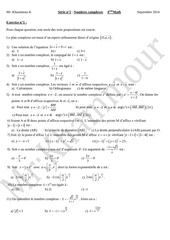 serie n 2 nombres complexes 2