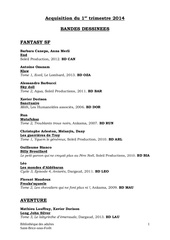 aquisitions bd 1er trimestre 2014