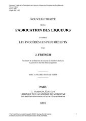 fabrication liqueurs