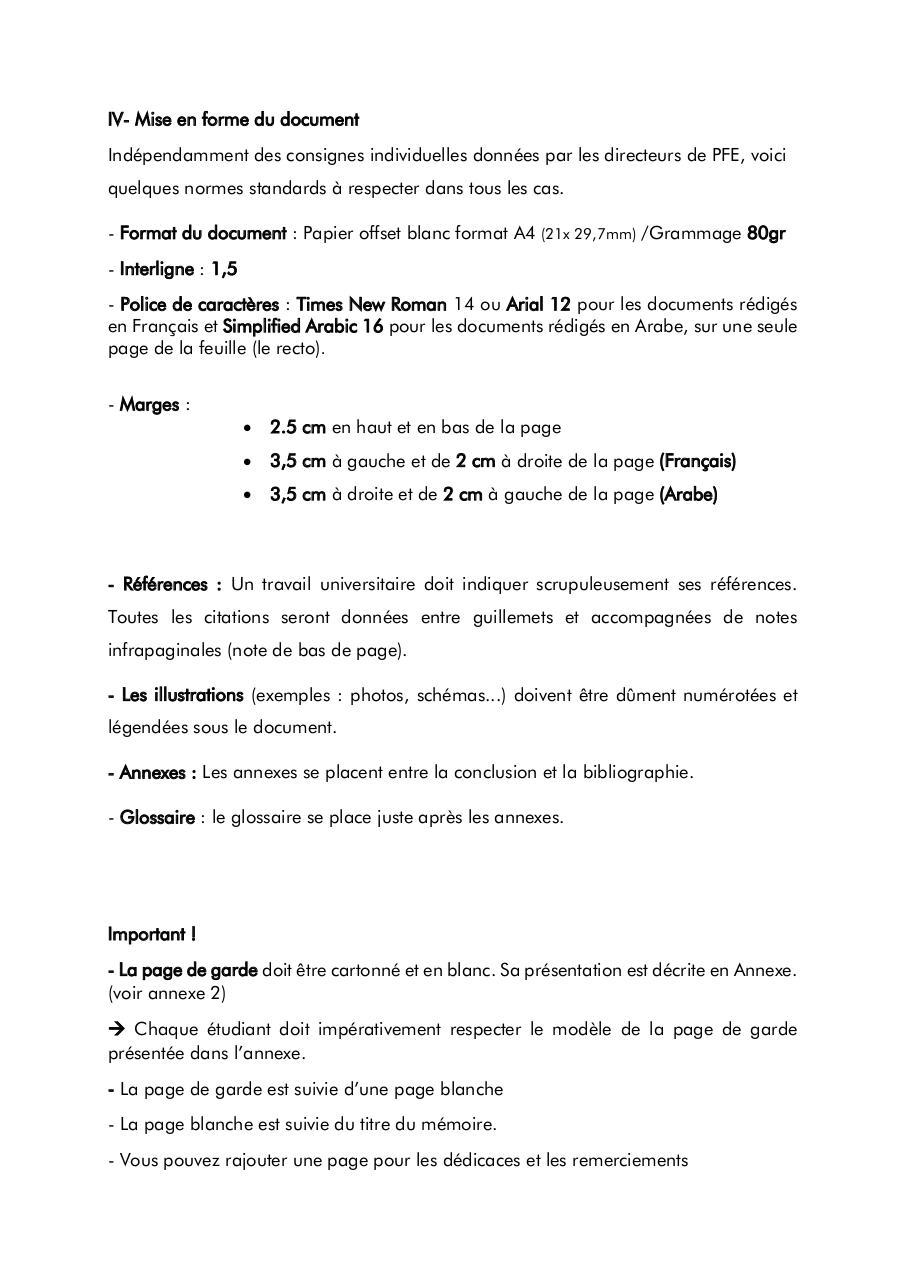 guide pratique pour la r u00c9daction du m u00c9moire 2014 2015 par