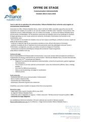 offre de stage alliance maladies rares 2014 2015
