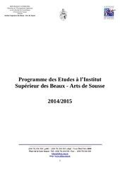 programmes enseigenement lmd isbas 2014 2015