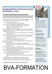 recyclage habilitation electrique basse tension b1v b2v br bc
