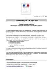 communique de presse prefecture