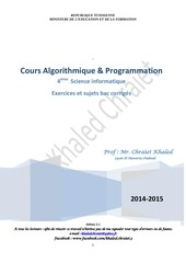 cours algorithmique et programmation 4 si 1