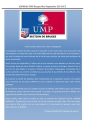 journal ump bruges mai sept 2014