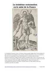 la troisieme restauration ou le salut de la france