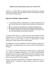 Fichier PDF modification immatriculation
