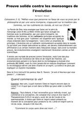 Fichier PDF preuve solide contre les mensonges de l evolution
