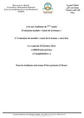 Fichier PDF evaluation module sante de la femme