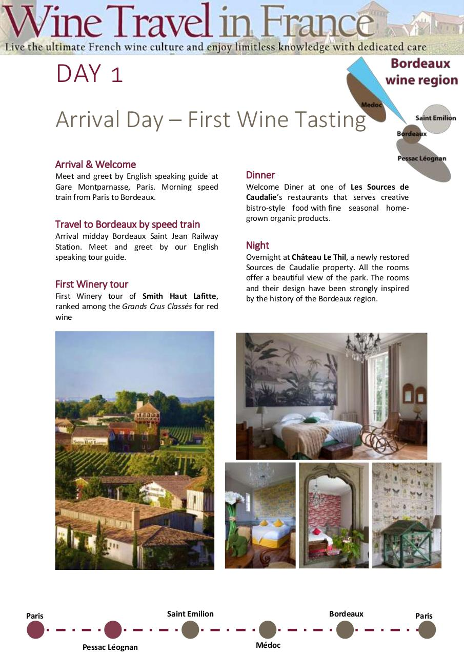 WineTravelinFrance itinerary sp.pdf - page 2/8