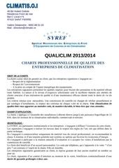 charte qualiclim 2013 2014