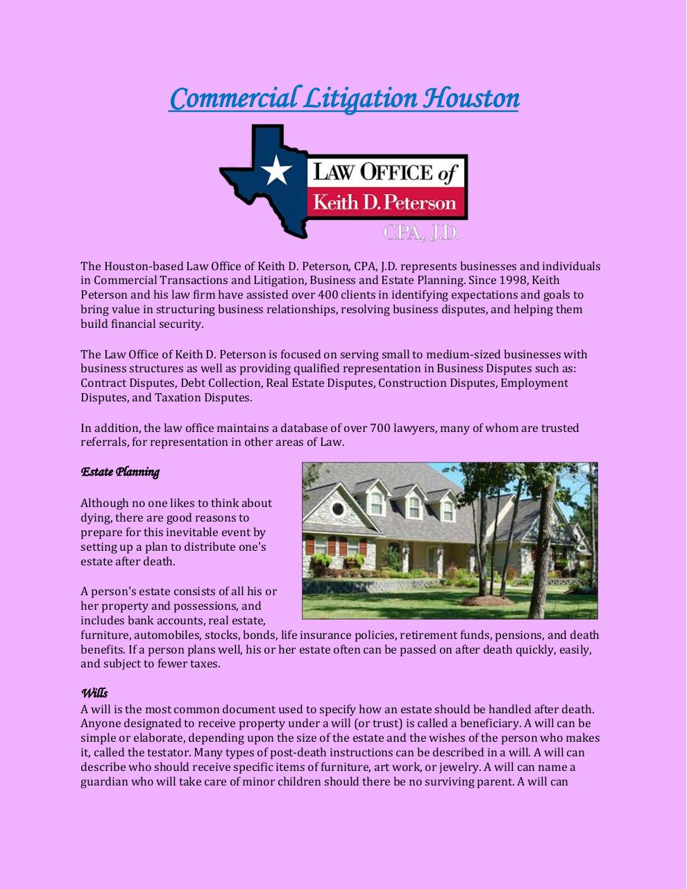Commercial Litigation Houston.pdf - page 1/3