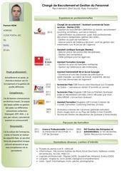 Fichier PDF cv recrutement