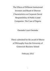 thesis csr governance