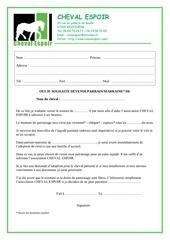 contrat parrainage 2014