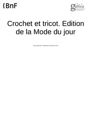 crochet et tricot 1928 15