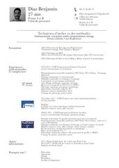 Fichier PDF cv diaz benjamin technicien atelier