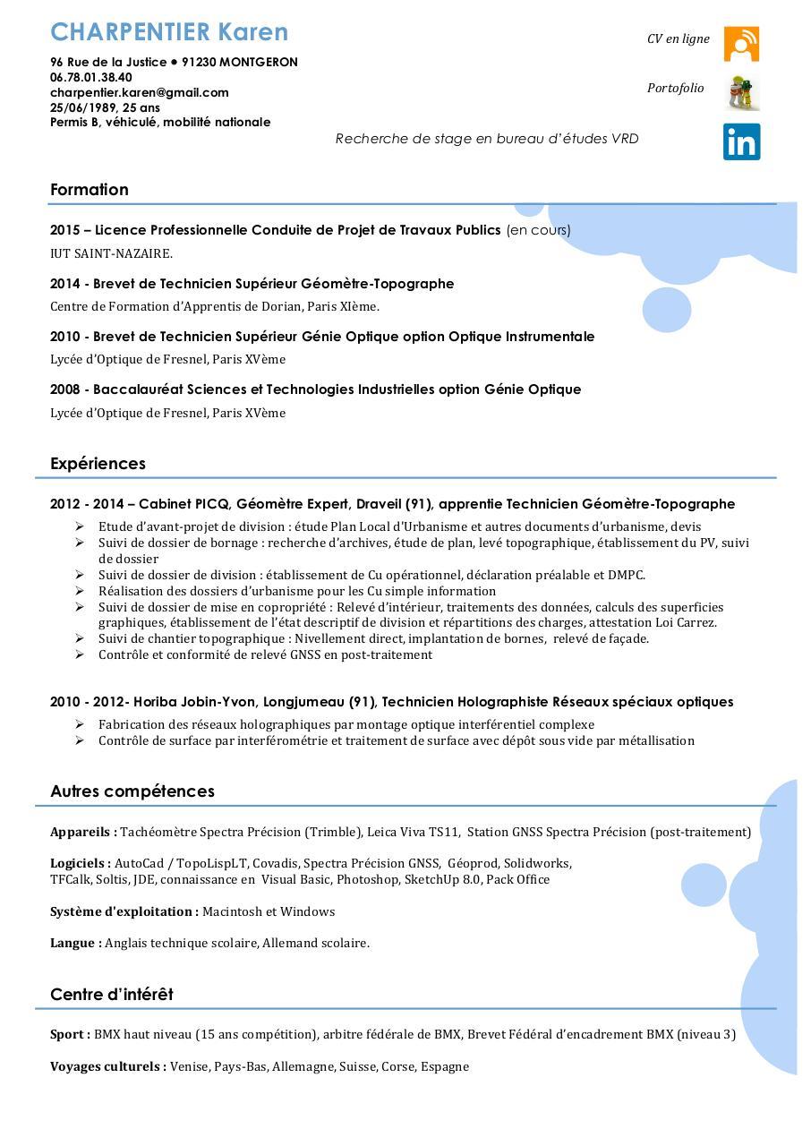 cv hypertexte docx - cv karen charpentier pdf