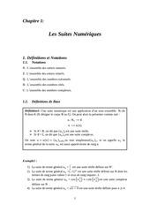 les suites numeriques
