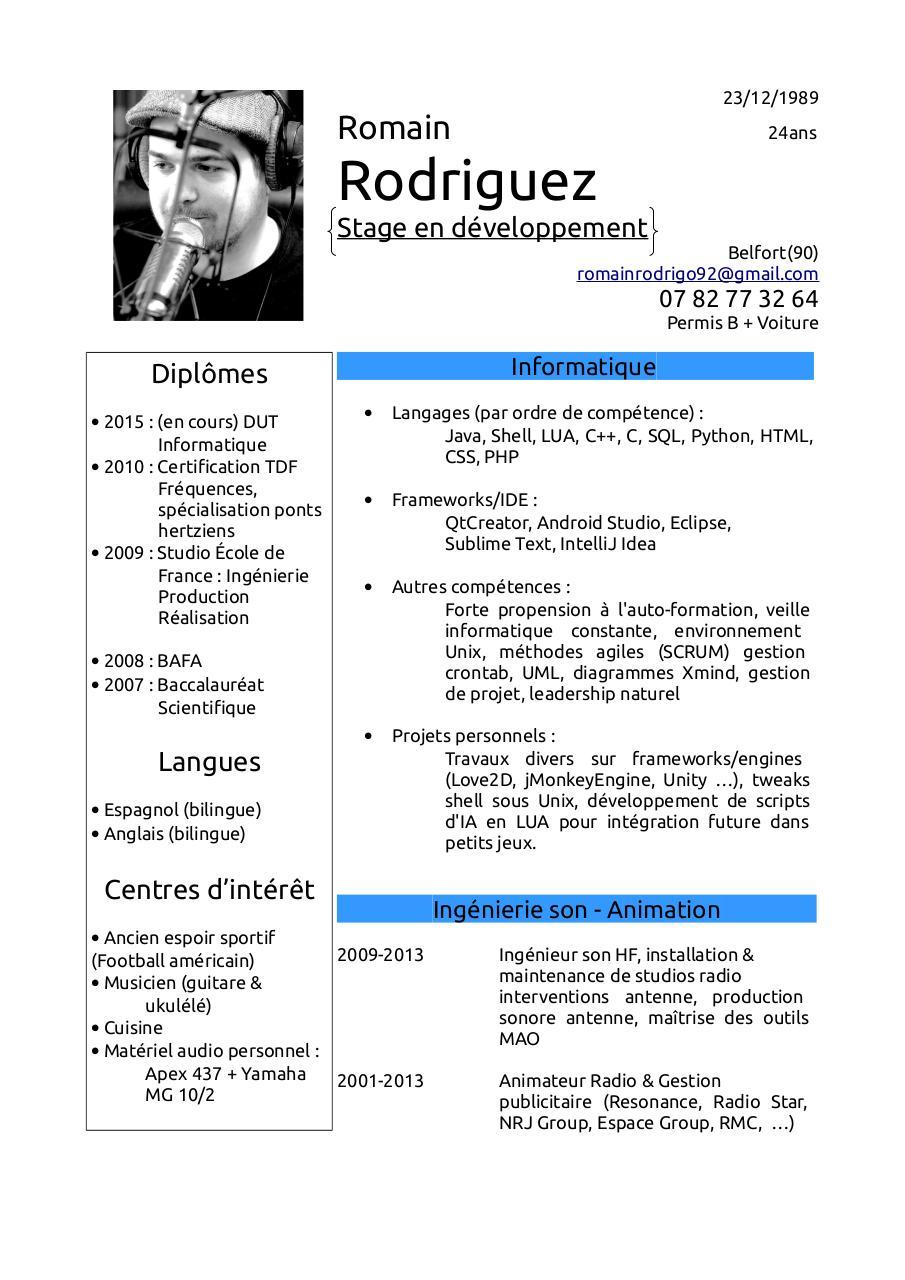 pard u00e9faut par rodrigo - cv romain rodriguez s3a1 pdf