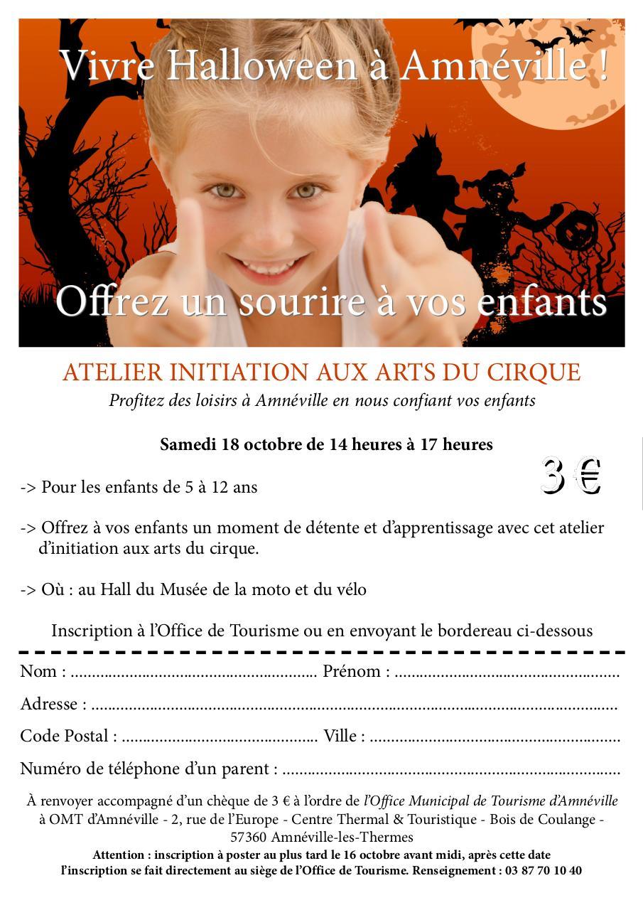 Inscription atelier initiation aux arts du cirque fichier pdf - Office de tourisme amneville ...