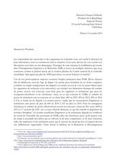lettre de 660 du a f hollande
