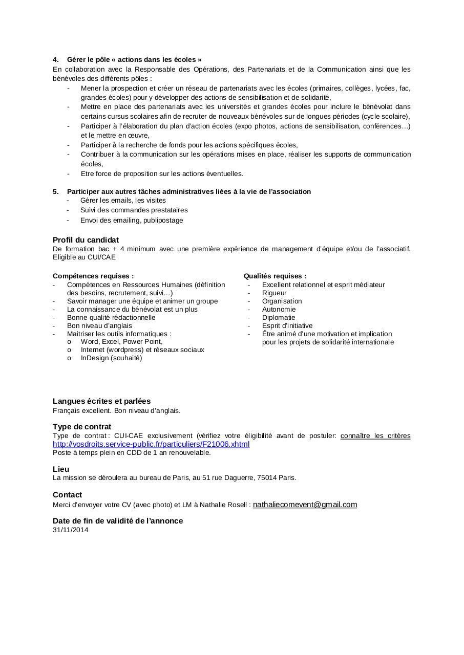 offre emploi cameleon 14 10 2014 par contact