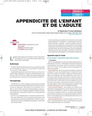 appendicite de l enfant et de l adulte rdp jullt 2014