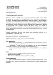 offre stage automne 2014 betonsalon