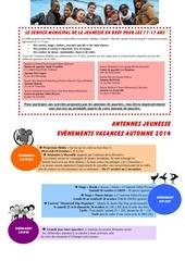 programme vacances automne 2014