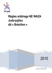 reglement arbitrage jujitsu newaza