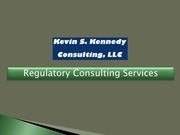 regulatory consulting services