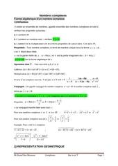 nombres complexes mr raouf