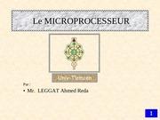 Fichier PDF cours 2 le microprocesseur