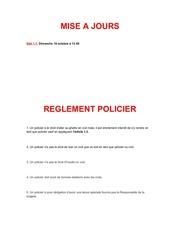 reglement policier
