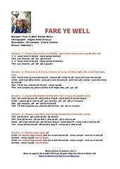 fare ye well