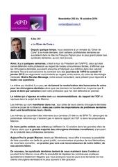 newsletter 203 du 19 octobre 2014