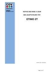notice de mise a jour etimo 2t
