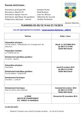 planning stv feminin du 20 10 2014 au 26 10 2014