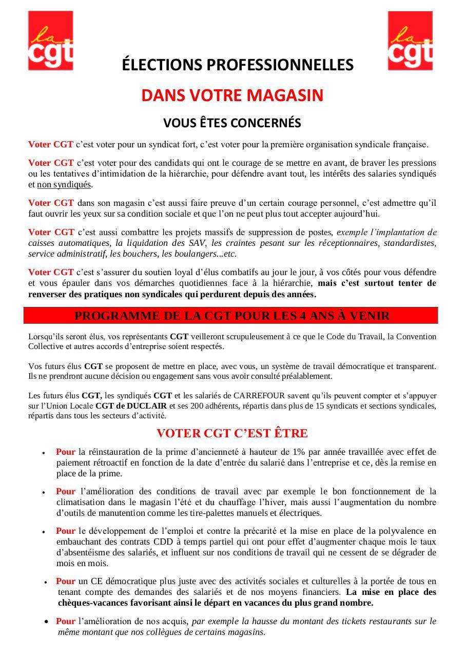 Tract Cgt Carrefour Barentin Par Proprietaire Fichier Pdf