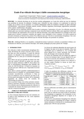 vehicule faible consomation energetique cetsis 2014