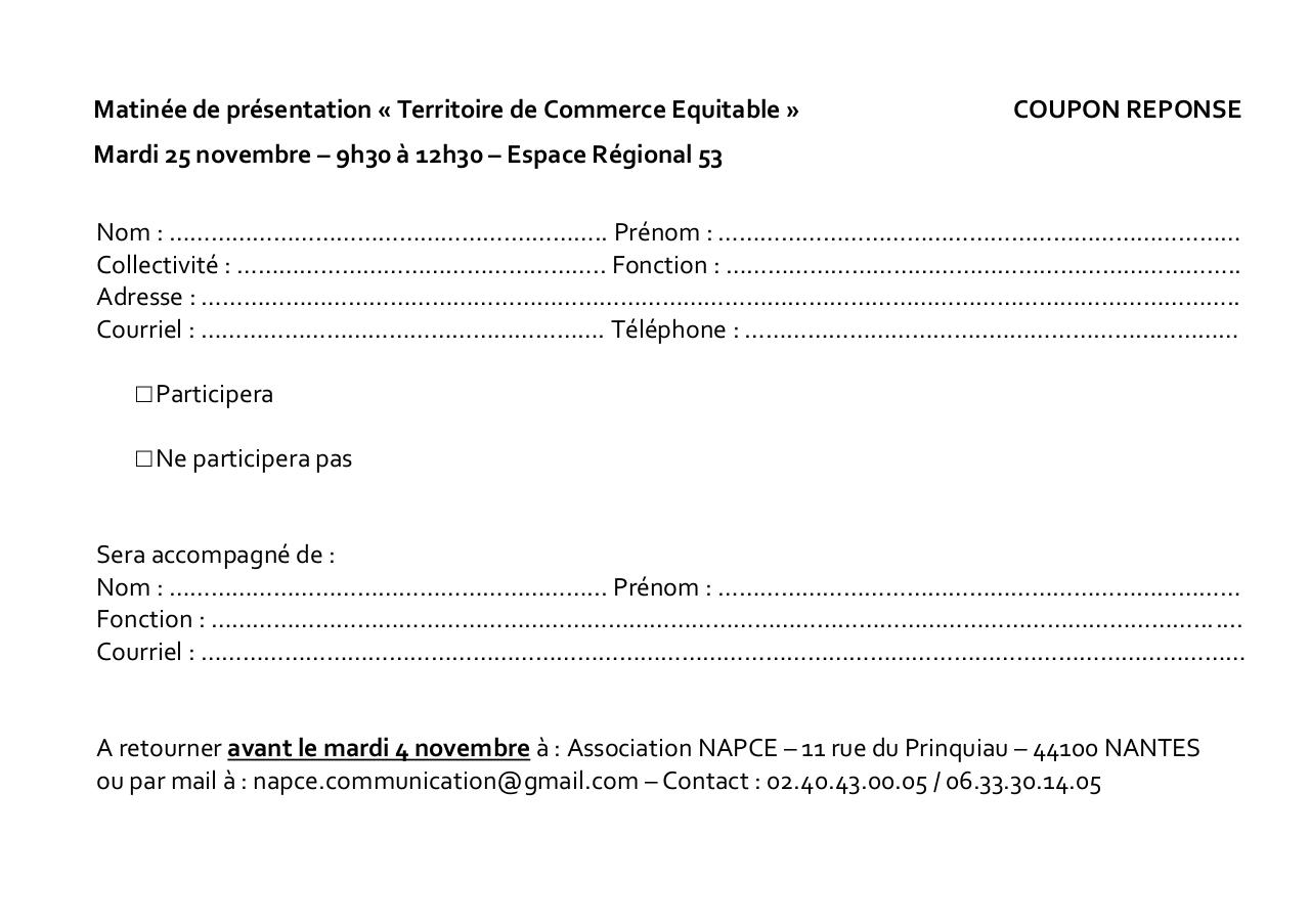 COUPON REPONSE Invitation - 251114 - LAVAL.pdf - page 1/2