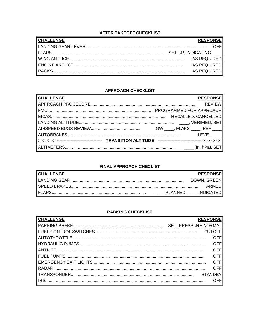 PMDG 747 400 CHECKLIST - Fichier PDF