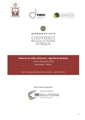 programme resolutions afrique marrakech 2014 fr