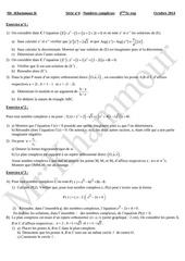 serie n 4 nombres complexes bac sc exp